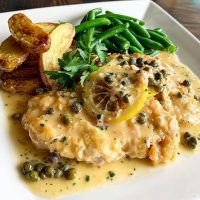 Chicken piccata with lemon and capers from Blue 44