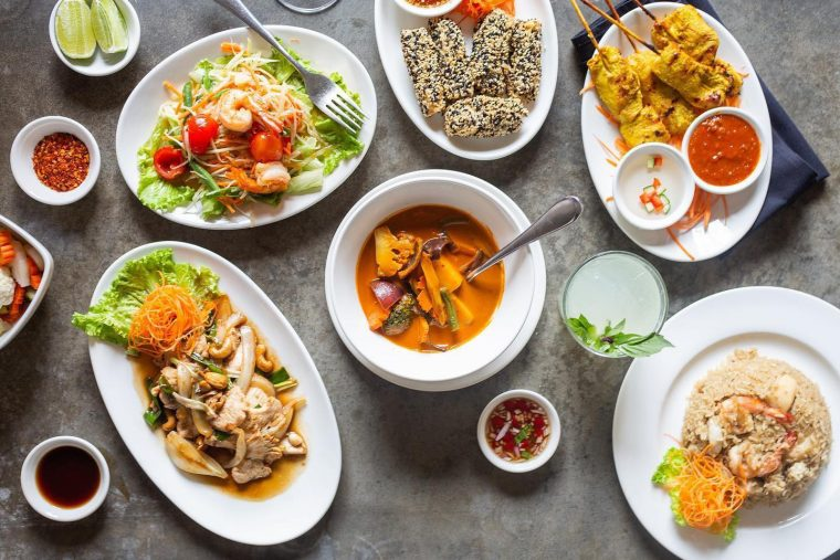 Dishes from Beau Thai
